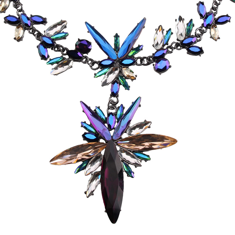 Occident Glass / glass Geometric necklace ( color ) NHJQ5153