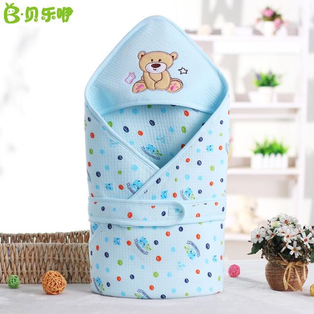 Túi đựng đồ trẻ em của Belle là bán buôn cho em bé giữ chăn sơ sinh giữ trẻ em bằng vải bông động vật 90 * 90 Khăn quấn