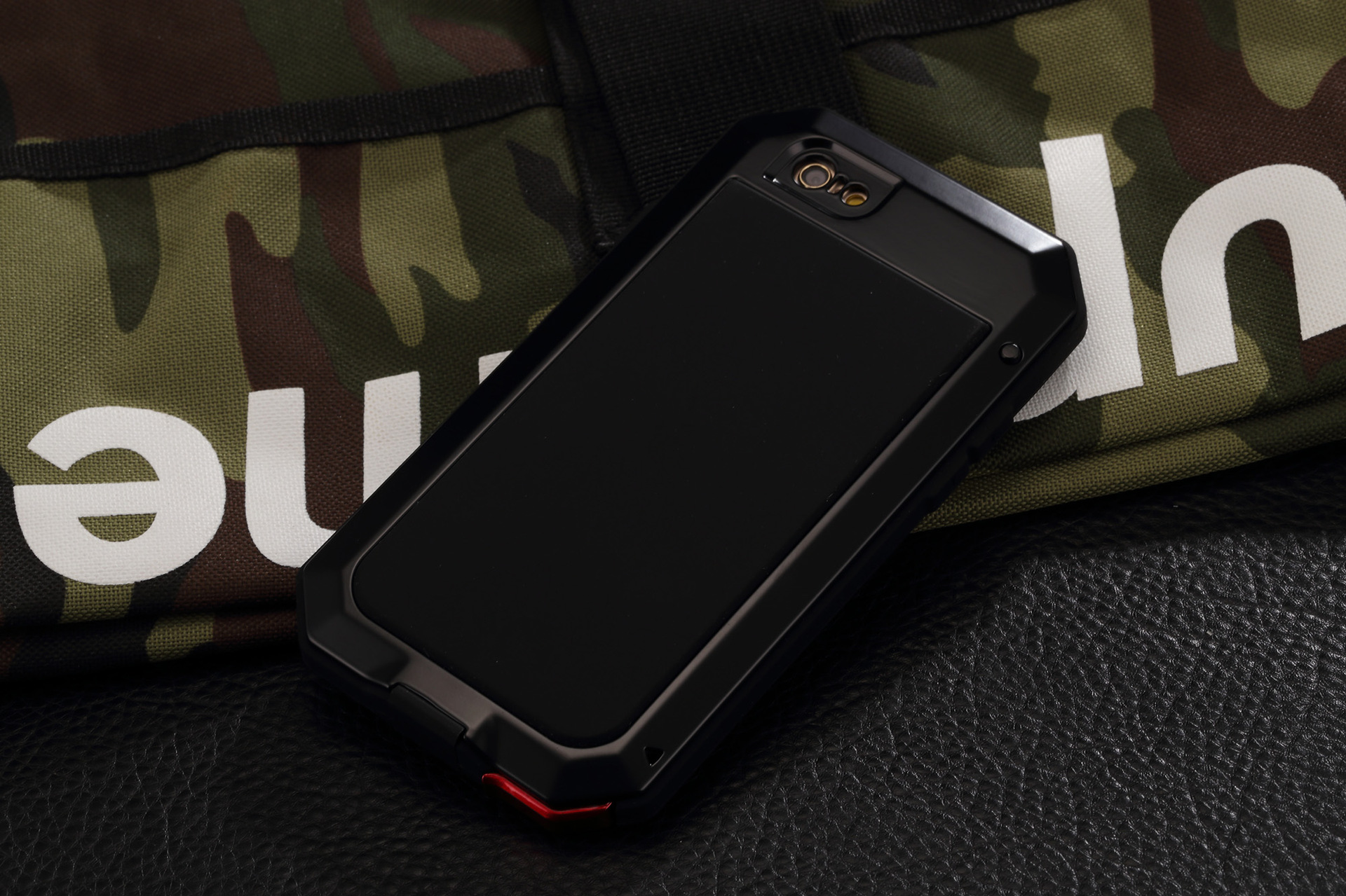 R-Just Extreme Premium Protection System Aluminum Heavy Duty Metal Case with Corning Gorilla Glass for Apple iPhone 6S Plus/6 Plus & iPhone 6S/6