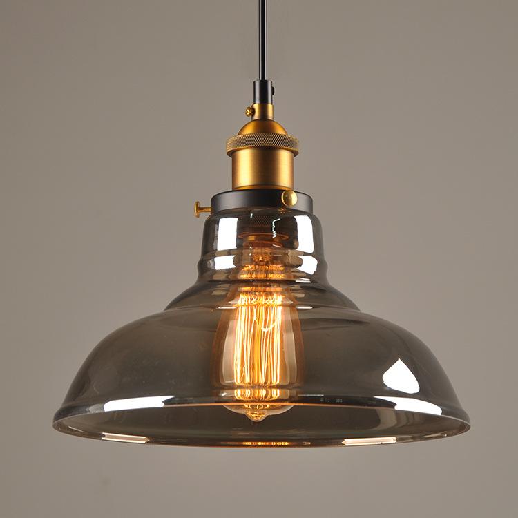美式乡村复古工业风Loft创意餐厅酒吧台单头玻璃吊灯具