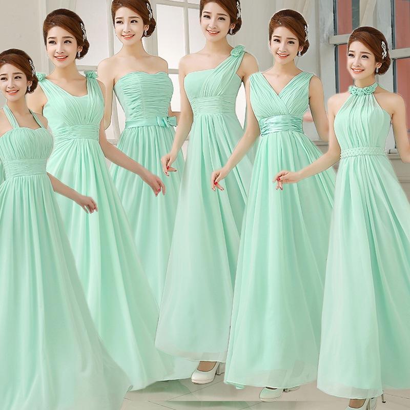 2020新款新娘伴娘结婚敬酒婚晚装礼服伴娘团长款年会演出服果绿色