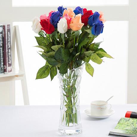 Hoa giả hoa hồng giả hoa dưỡng ẩm kim cương người yêu hoa hồng tay hoa hồng hoa hồng nhân tạo nguồn cung cấp đám cưới