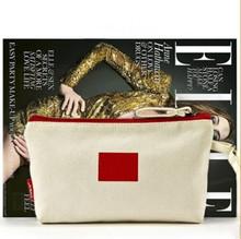 工厂订做高品质帆布化妆包 便携美妆彩妆工具收纳包
