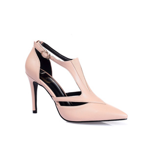 T-strap, Ryerson - Sand, lady high-heeled shoes