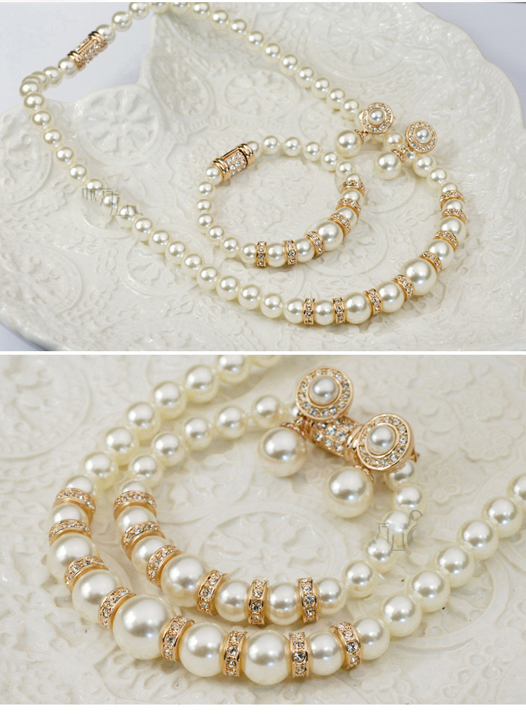 Alloy Korea  Jewelry Set  (Alloy white beads) NHLJ4097-Alloy-white-beads