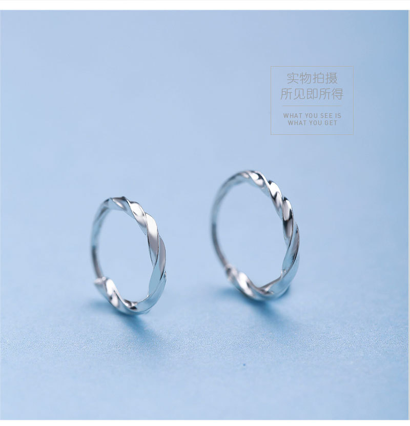 Star with the money metal plating earring (Outer diameter 14mm twist 1 pair)NHIM0662-Outer diameter 14mm twist 1 pair