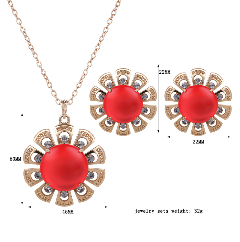 Occident and the United States alloy Diamond Jewelry Set (61152182)NHXS1429-61152182