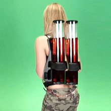 背包式饮水啤酒机 背包式酒炮 双筒酒塔分酒器 配双枪饮料机