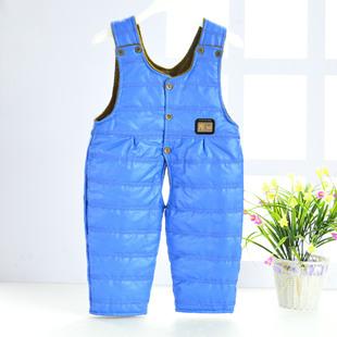 18婴儿背带裤童裤婴幼儿夹棉开裆棉裤宝宝防尿湿0-2岁秋冬季裤子