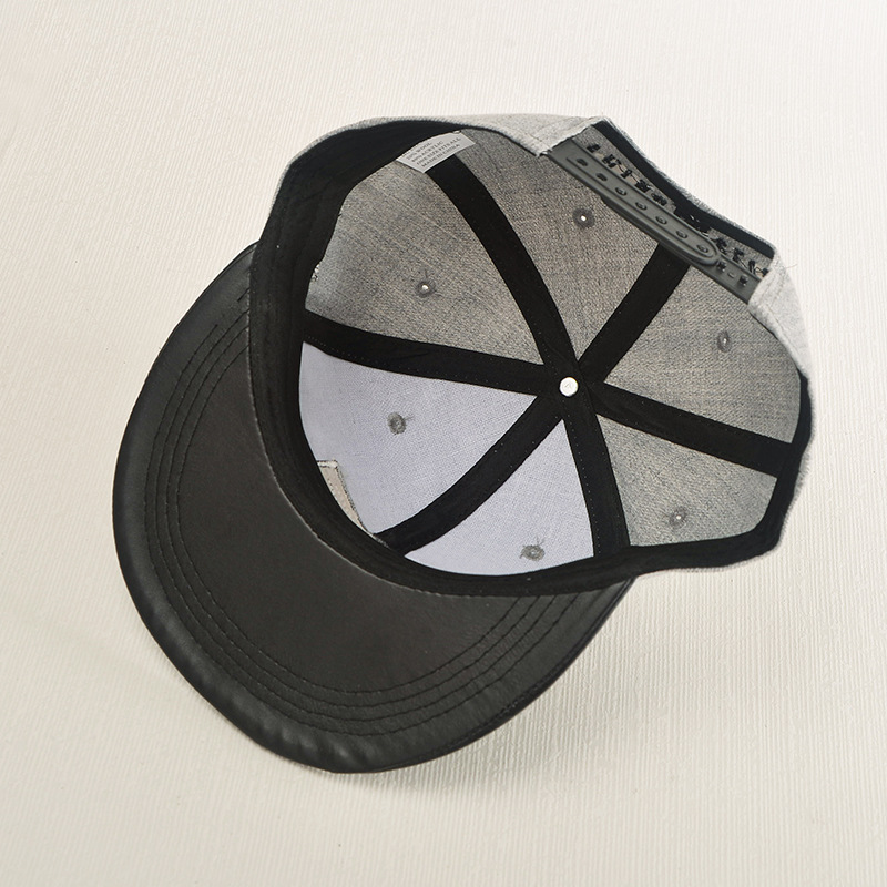 Leather hat applique hat letter printing street dance male fashion baseball cap NHXB172388