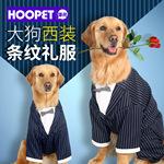 大型犬服装大狗条纹领结西装金毛哈士奇衣服狗狗衣服宠物用品批发