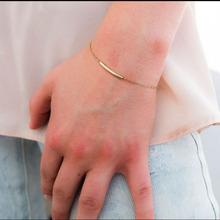 歐美外貿飾品 時尚簡約 精致的金手鐲 金屬管 鍍金簡單手鏈批發
