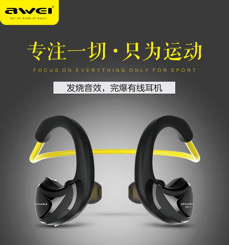 Original Awei A880BL Bluetooth Sport Wireless Earphones Waterproof Headphone headsets auriculares ecouteur for IPHONE HUAWEI IOS