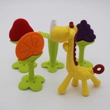 嬰幼兒牙膠兒童磨牙棒硅膠小鹿磨牙器香蕉咬牙器寶寶搖鈴玩具母嬰