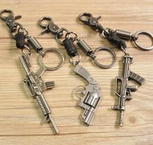 仿真枪钥匙扣 复古牛皮原创手工 动漫钥匙挂件 CF 道具 厂家现货