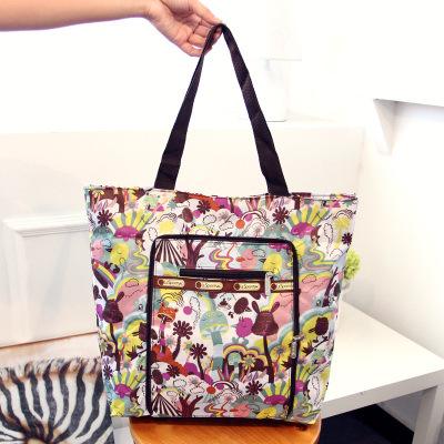 Túi vải nylon túi xách nữ giải trí túi đeo vai công suất lớn túi mua sắm túi vải mẹ hoa ngoài trời tiện lợi túi