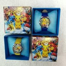 皮卡丘冰雪奇緣叮噹貓小黃人車王兒童皮帶卡通手表高檔盒裝禮物