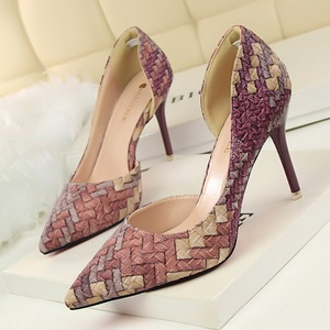 fashion personality color matching shoes high heel