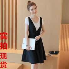 夏新款时尚吊带连衣裙女韩版中长款宽松大摆裙半身裙潮套装