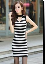 韓版大碼女裝 修身無袖背心裙 打底雜款地攤貨源針織連衣裙