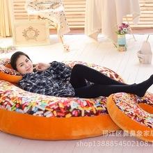 创意可爱甜甜圈抱枕靠垫加厚坐垫毛绒玩具 可印LOGO 一件代发