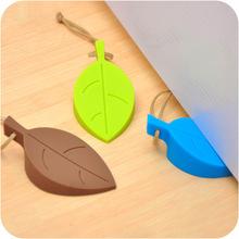 嘟嘟熊 创意树叶硅胶安全门档 儿童可挂防风门塞防夹手安全门卡
