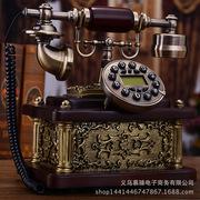 慕予臻欧式仿古电话机复古家用高档实木大气座机时尚创意美式电话