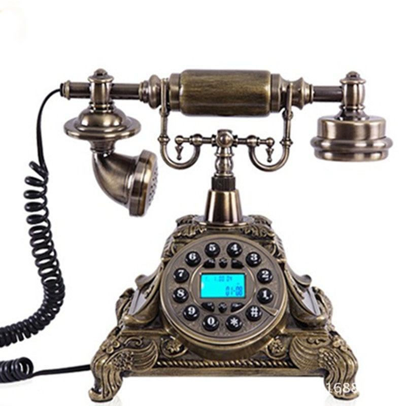 仿古电话机生产厂家批发高档办公树脂欧式家用仿古电话机座机
