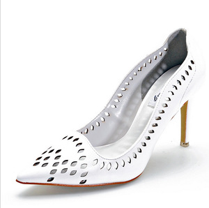 High-heeled shoes in the fall of the new Roman joker female sandals baotou single hollow out pointed leisure shoes for w