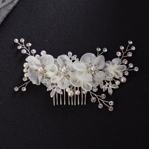 Hairpin hair clip hair accessories for women Style Niang headdress hair comb alloy Niang water diamond haircomb wedding accessories