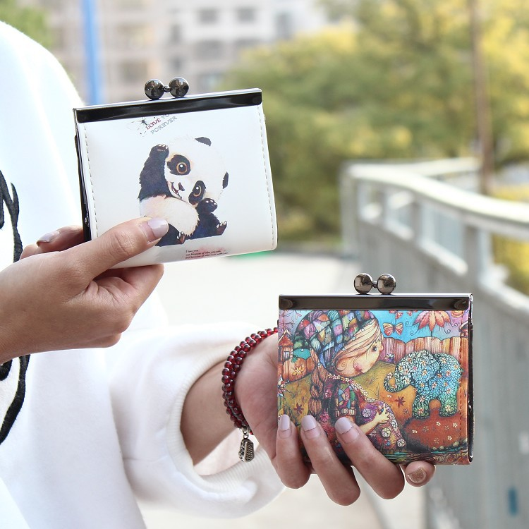 Korean version of style PU leather Synthetic Leather fashion purse (camera) NHNI0184