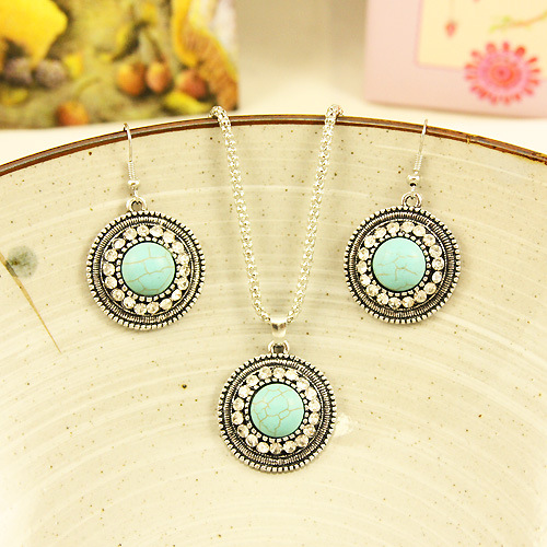 Womens Electroplated Alloy Jewelry Sets NHAS120808