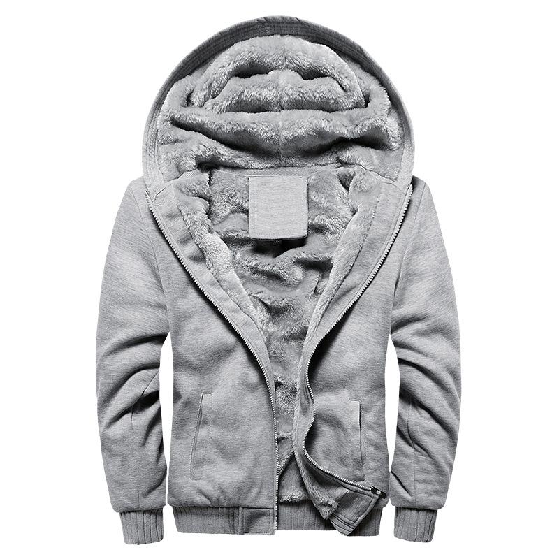 专供男式卫衣连帽秋冬装男棒球服男韩版运动加绒加厚男装外套