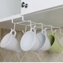 日式 咖啡杯架红酒杯架 悬挂免钉隔板水杯架 创意厨房用品收纳架