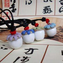 景德镇手工陶瓷饰品  时尚挂坠服装配饰 原创松果可爱风陶瓷项链