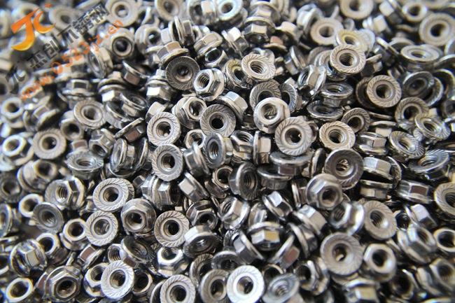 现货供应304不锈钢法兰螺母 M4六角法兰螺母 防滑螺母