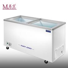 慕雪1.1米卧式单温冷冻冷藏转换冰柜超市雪糕商用展示柜家用冷柜