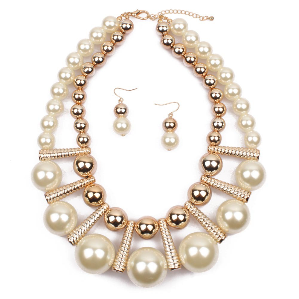 Occident and the United States pearlnecklace (creamy-white)NHCT0022-creamy-white