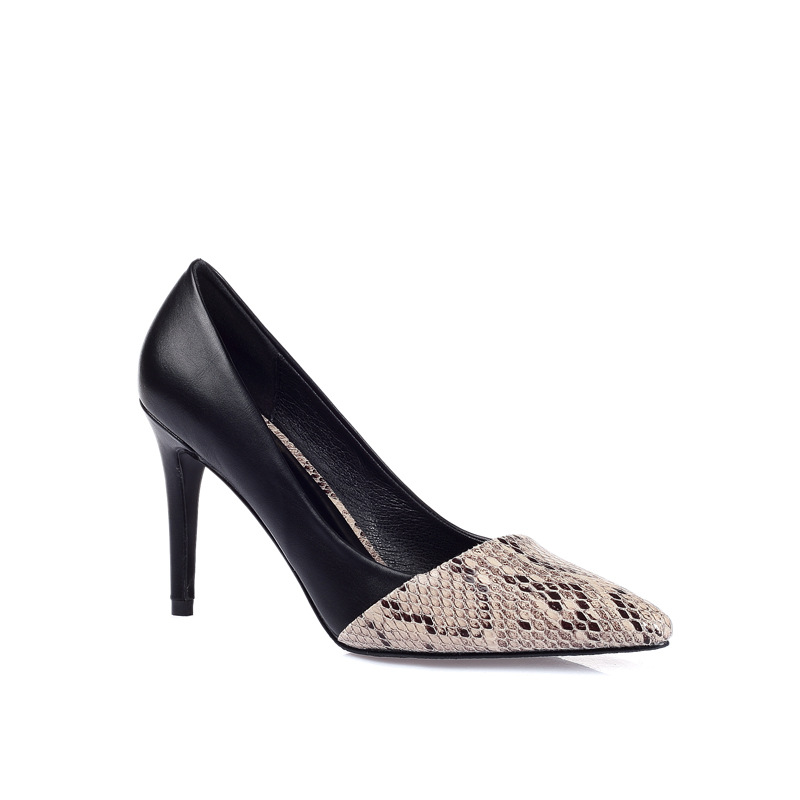 Snake-print Women high heels, serpentine pumps's main photo