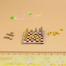 1:12 Doll House Mini Accessories Heavy Industry Exquisite International Chess