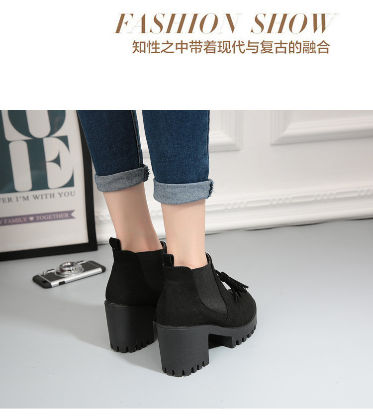 2017 New Autumn Winter Fashion Women Female Warm Short Bottine Martin Boots Ladies Shoes Chunky Heel Platform Ankle Booties G327