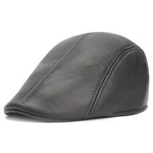 皮质鸭舌帽男女士加绒贝雷帽子批发秋冬季保暖pu前进帽速卖通帽子