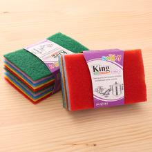 彩色百洁布洗碗布清洁布10片装百洁清洁抹布