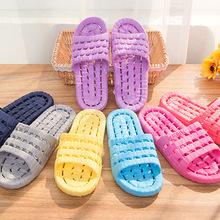 1086 浴室拖鞋防滑洗澡漏水浴场塑料情侣家居按摩凉拖鞋男女拖鞋