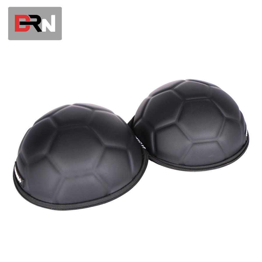 厂家供应 PU拉链足球形耳机包 EVA大耳机包 世界杯赠品包 定制