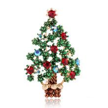 跨境货源wish爆款欧美流行速卖通热卖衣饰 创意圣诞树高档胸针
