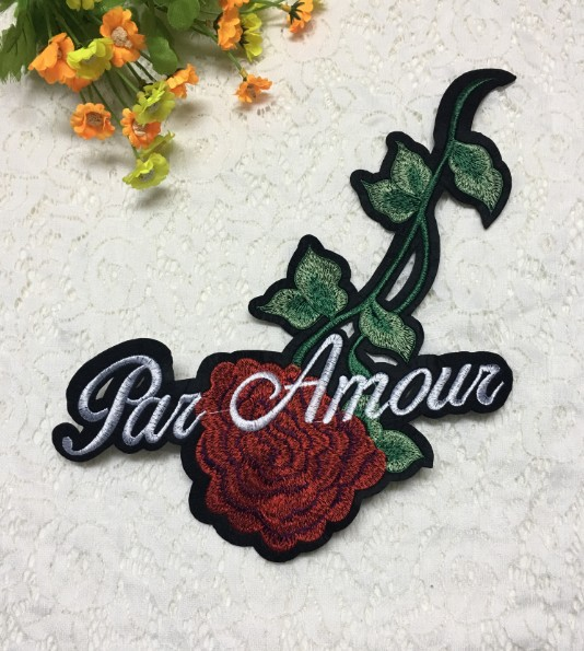 Fashion rose embroidery cloth stickers accessories clothes sweater coat patch decal decoration DIY subsidy NHLT193856