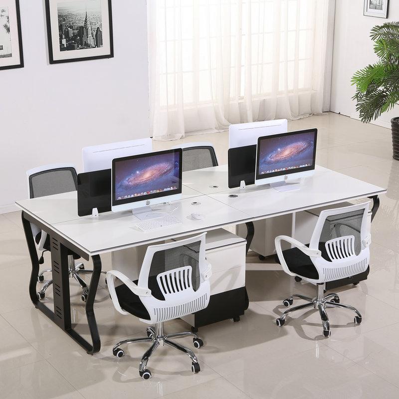 职员屏风办公桌简约4人位电脑桌椅组合6人位隔断员工办公桌卡座