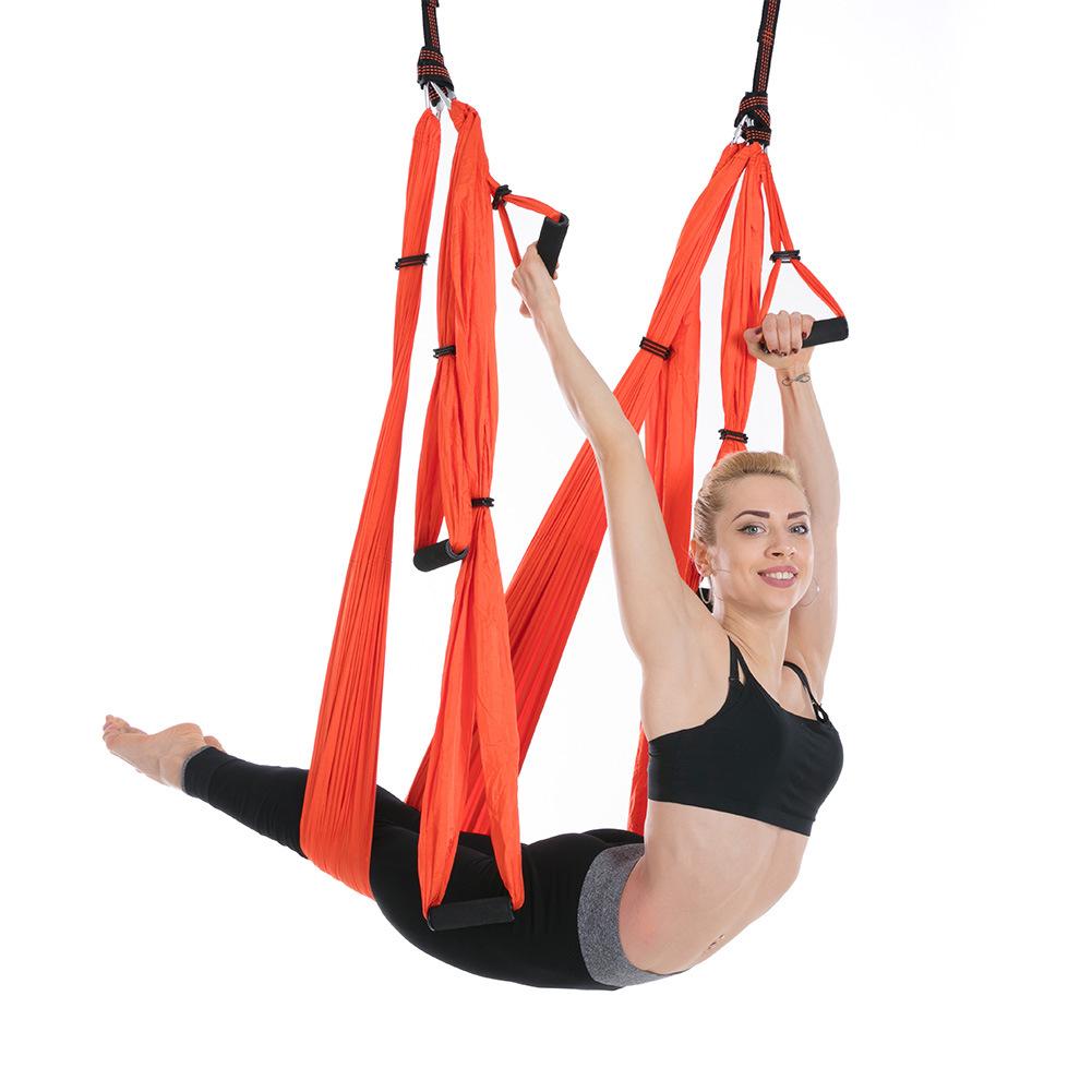 室內反轉空中瑜伽吊床瑜珈秋千健身吊床戶外降落傘布YOGA HAMMOCK