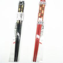 日本原装进口田中木质筷子尖头筷子细头筷子方格型筷子000800